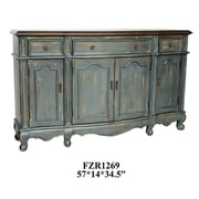 Crestview Chatsworth 3 Drawer/4 Door Credenza