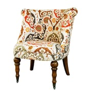 Crestview Hutchison Pattern Fabric Side Chair