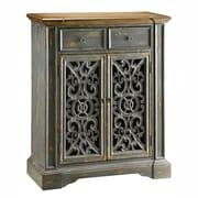 Crestview Chatsworth Pierced Door Cabinet