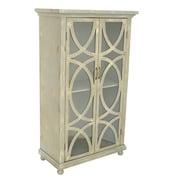 Crestview Aspen Distressed 2 Door Tall Cabinet