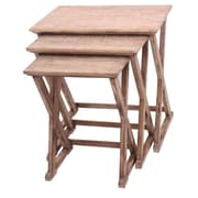 Crestview Cheyenne 3 Piece Nesting Table Set