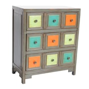 Crestview Tradewinds Colorful 3 Drawer Chest