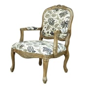 Crestview Huntley Pattern Fabric Arm Chair