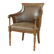 Crestview Kensington Leather Arm Chair