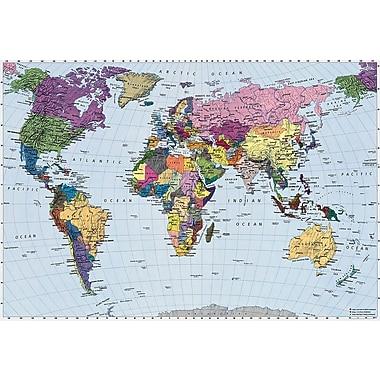 Komar – World Map, murale de 74 x 106 po