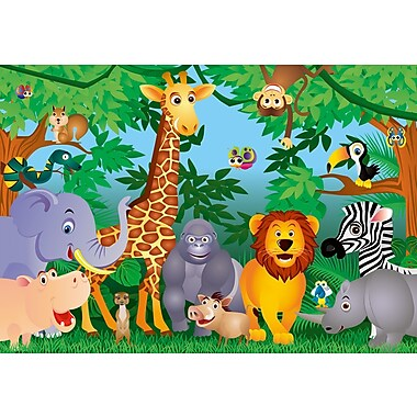 Ideal Decor In the Jungle Wall Mural, 100