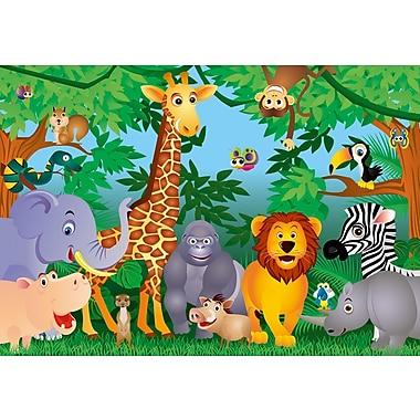 Ideal Decor – Mural In the Jungle, 100 po x 144 po