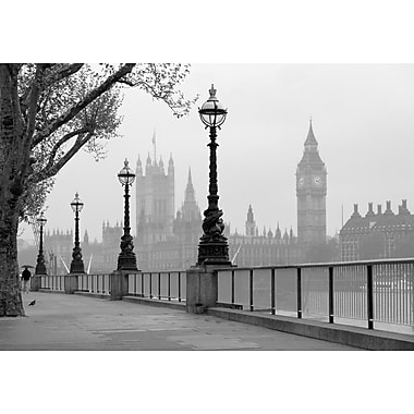 Ideal Decor London Fog Wall Mural, 144