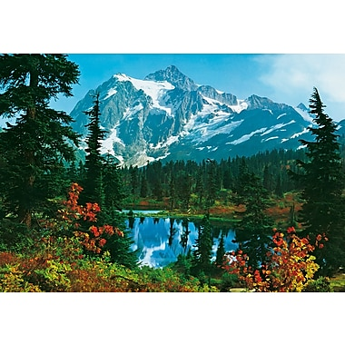 Ideal Decor Mountain Morning Wall Mural, 100