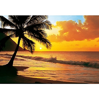 Ideal Decor Pacific Sunset Wall Mural, 100