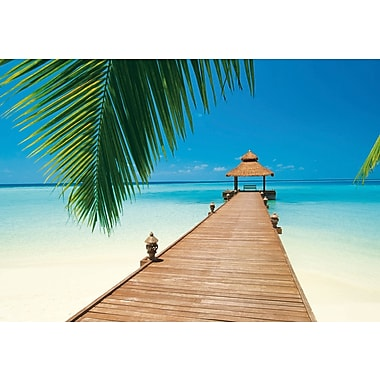 Ideal Decor Paradise Beach Wall Mural, 144