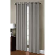 Bella Luna Henley Room Darkening Grommet Thermal Curtain Panels (Set of 2); Grey