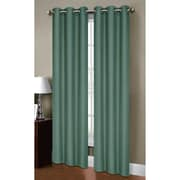 Bella Luna Henley Room Darkening Grommet Thermal Curtain Panels (Set of 2); Grey Teal