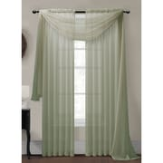 Window Elements Diamond Curtain Sheer Single Panel Scarf; Sage