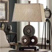 Crestview Gears 29'' H Table Lamp with Empire Shade