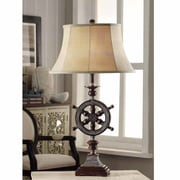 Crestview Ships-Wheel 33'' H Table Lamp with Bell Shade