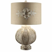 Crestview Becca 27'' H Table Lamp with Drum Shade