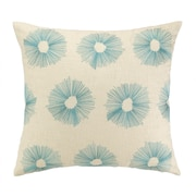 D.L. Rhein Etoile Embroidered Decorative Linen Throw Pillow; Sky Blue