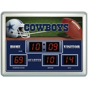 Team Sports America NFL Scoreboard Desk Clock; Dallas Cowboys