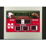 Team Sports America NCAA Scoreboard Desk Clock; Nebraska