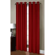 Bella Luna Henley Room Darkening Grommet Curtain Panels (Set of 2); Chilli