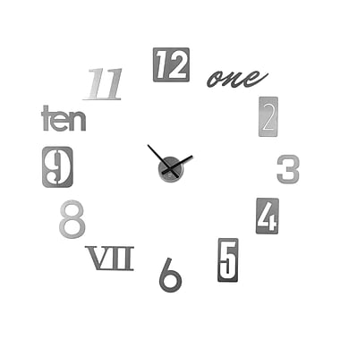 Umbra Numbra Aluminum Wall Clock