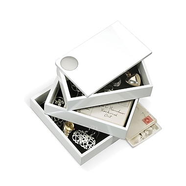 Umbra Spindle Storage Box, White