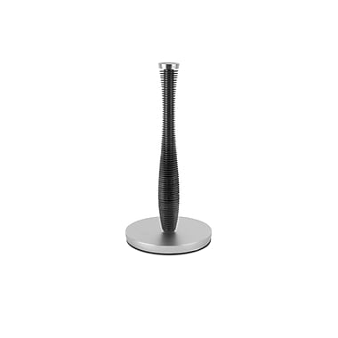 Umbra Groove Plated Paper Towel Holder, Black/Nickle
