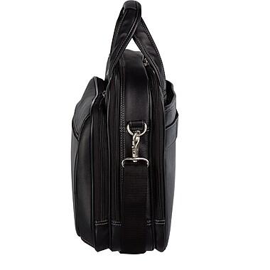 Bugatti - Serviette de luxe en similicuir pour portatif de jusqu'à 15,6 po, noir