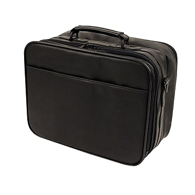 Bond Street Executive Briefcase in Synthetic Leather, Black