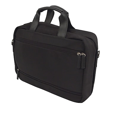 Bond Street Executive Briefcase in Nylon, Black