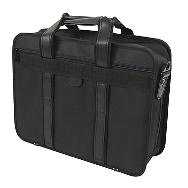 Bond Street Nylon Executive Briefcase, Black
