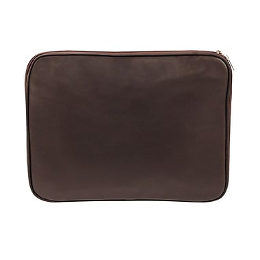 Bond Street Expandable Briefcase in Leather, Burgundy