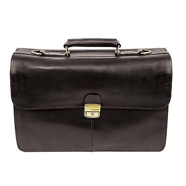 Bond Street Full Grain Leather Executive Briefcase, Black