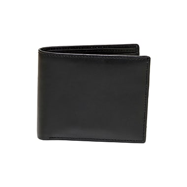 Ashlin Genuine Leather Hilston Men's Billfold Wallet with Coin Purse, Black