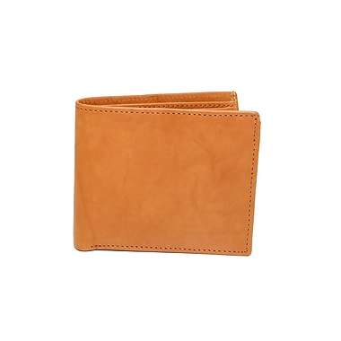 Ashlin Genuine Leather Hilston Men's Billfold Wallet with Coin Purse, Medium Brown