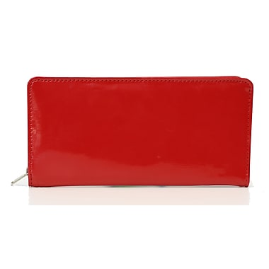 Ashlin Oliveria Ladies Clutch Zippered Wallet, Red