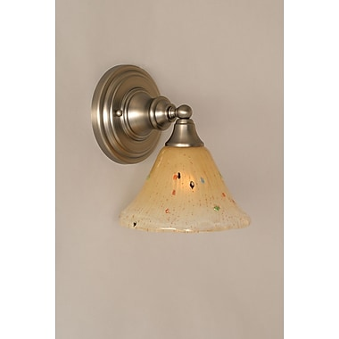Toltec Lighting 1 Light Wall Sconce; Brushed Nickel