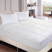 Stayclean Polyester Microfiber Down Alternative Water and Stain Resistant Mattress Pad; King