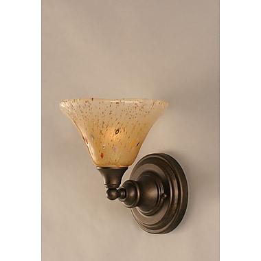 Toltec Lighting 1 Light Wall Sconce; Bronze