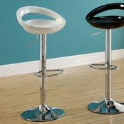 Hokku Designs Adjustable Height Swivel Bar Stool (Set of 2); White