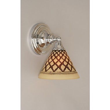 Toltec Lighting 1-Light Wall Sconce; Chrome