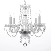 Harrison Lane Royal 4 Light Crystal Chandelier; Plug-in Kit Included