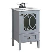 Simpli Home Paige 21'' Single Bathroom Vanity Set; Grey