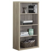 Monarch Specialties Inc. Reclaimed Look 48'' Standard Bookcase; Dark Taupe