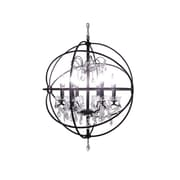LightUpMyHome 24 Inch Iron Orb Sphere Crystal Chandelier