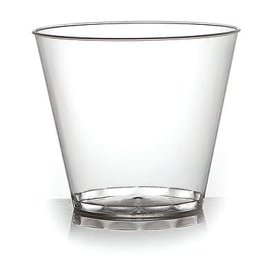 Fineline Settings, Inc Savvi Serve Old-Fashioned 9 oz. Plastic Old Fashioned Glass (500 Pack); Clear WYF078277598709