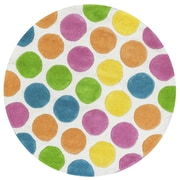 KAS Rugs Kidding Around Multi Chic Lotsa Dots Area Rug; 2' x 3'