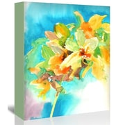 Americanflat Yellow Orchid Painting Print on Gallery Wrapped Canvas; 24'' H x 20'' W x 1.75'' D