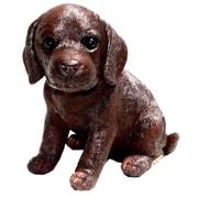 Michael Carr Labrador Puppy Statue; Fudge - Chocolate